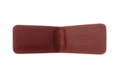 Men's Canvas & Leather Magnetic Money Clip - Brown - Avallone - 3