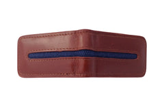 Men's Canvas & Leather Magnetic Money Clip - Brown - Avallone - 2