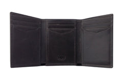 Men's Canvas & Leather Tri-Fold RFID Wallet - Grey - Avallone - 2