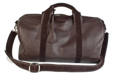 1st Class Traveler - Brown - Handmade Italian Leather Duffle Bag - Avallone - 2