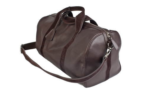 1st Class Traveler - Brown - Handmade Italian Leather Duffle Bag