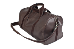 1st Class Traveler - Brown - Handmade Italian Leather Duffle Bag - Avallone - 1