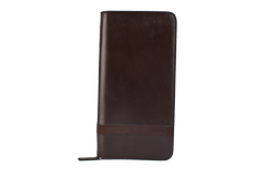Executive Passport Holder Leather Wallet - Brown - Avallone - 2