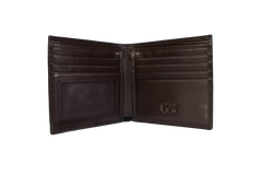 Executive Bi-Fold Mens Leather Wallet - Brown - Avallone - 2