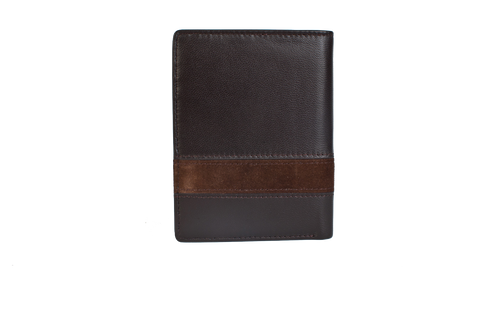 Executive Tri-Fold Mens Leather Wallet - Brown