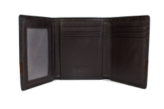 Executive Tri-Fold Mens Leather Wallet - Brown - Avallone - 2