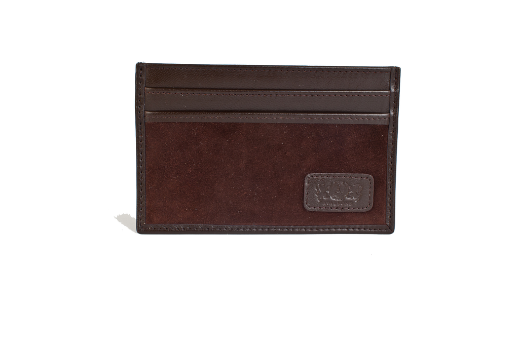 Slim Credit Card Leather Wallet - Brown - Avallone - 1