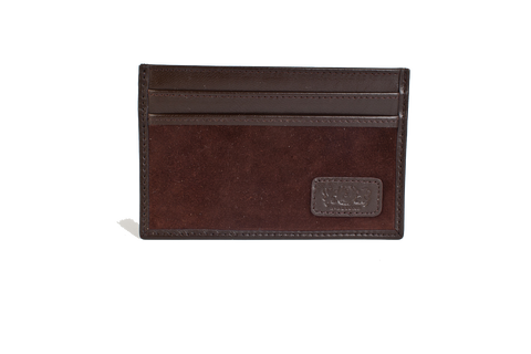 Slim Credit Card Leather Wallet - Brown