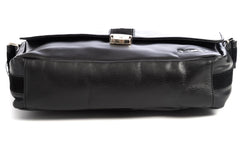 City Messenger - Black - Men's Italian Leather Messenger Bag - Avallone - 6