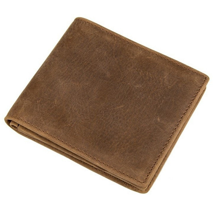 Western Bi-Fold Mens Leather Wallet - Tan