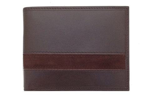 Executive Bi-Fold Mens Leather Wallet - Brown