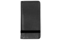 Executive Passport Holder Leather Wallet - Black - Avallone - 1