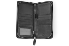 Executive Passport Holder Leather Wallet - Black - Avallone - 2
