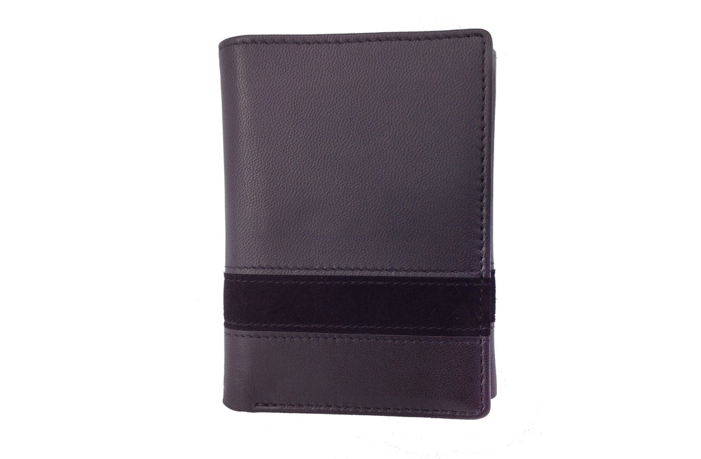 Executive Tri-Fold Mens Leather Wallet - Black - Avallone - 1