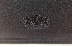 Executive Tri-Fold Mens Leather Wallet - Black - Avallone - 4