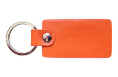 Italian Leather Keychain - Orange - Avallone - 2