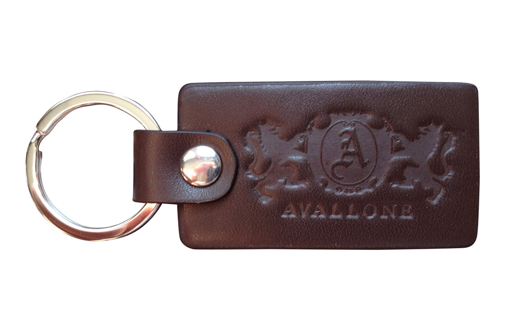 Italian Leather Keychain - Brown - Avallone - 1