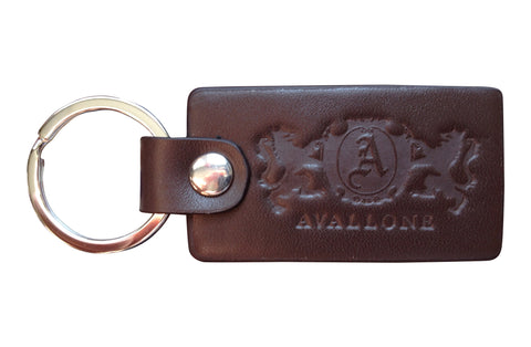 Italian Leather Keychain - Brown