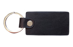 Italian Leather Keychain - Black - Avallone - 2