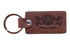 Italian Leather Keychain - Distressed Brown - Avallone - 1