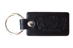 Italian Leather Keychain - Black - Avallone - 1
