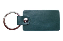 Italian Leather Keychain - Forest Green - Avallone - 2