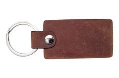 Italian Leather Keychain - Distressed Brown - Avallone - 2