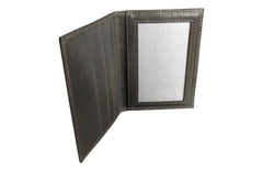 Men's Canvas & Leather Front Pocket RFID Wallet - Grey - Avallone - 6