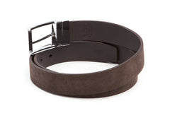 Executive Reversible Suede & Leather Belt - Brown - Avallone - 2