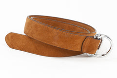 Executive Luxury D-Ring Suede Belt - Tan - Avallone - 2