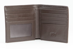 Italian Classic Bi-Fold Mens Leather Wallet - Brown - Avallone - 2