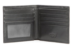 Italian Classic Bi-fold Mens Leather Wallet - Black - Avallone - 2