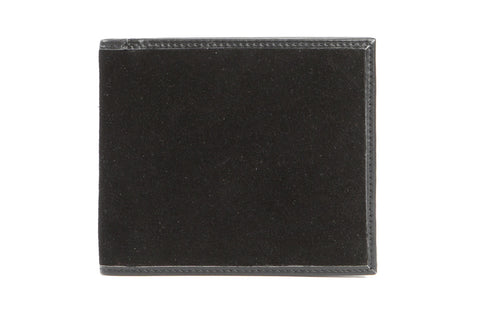 Italian Classic Bi-fold Mens Leather Wallet - Black