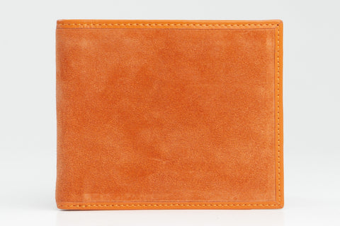 Italian Classic Bi-fold Mens Leather Wallet - Orange