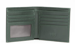 Italian Classic Bi-fold Mens Leather Wallet - Forest Green - Avallone - 2