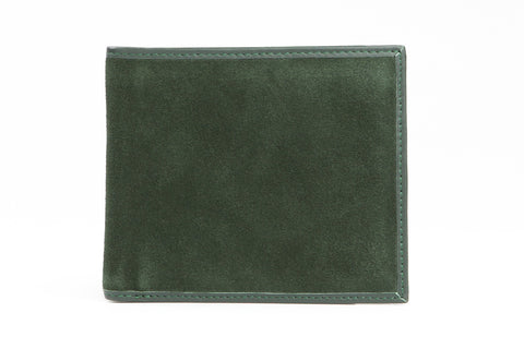 Italian Classic Bi-fold Mens Leather Wallet - Forest Green
