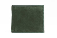 Italian Classic Bi-fold Mens Leather Wallet - Forest Green - Avallone - 1