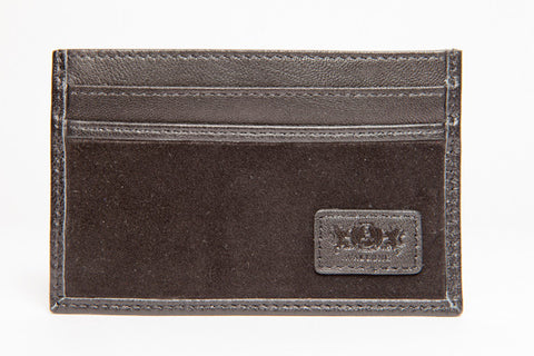 Slim Credit Card Leather Wallet - Black