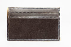 Slim Credit Card Leather Wallet - Black - Avallone - 2