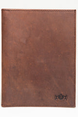 Antique Passport Holder Leather Wallet - Light Brown - Avallone - 2
