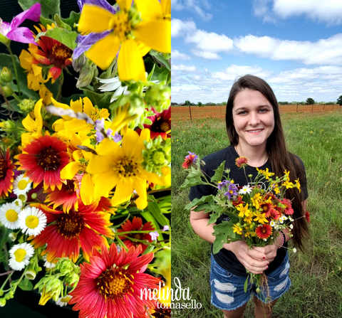 Jaclyn with Texas Hill Country Wildflowers