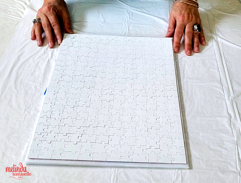 DIY framing art puzzles centering puzzle for gluing
