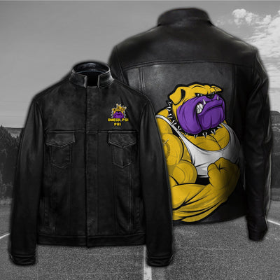 Omega Psi Phi Leather Jacket 21020193