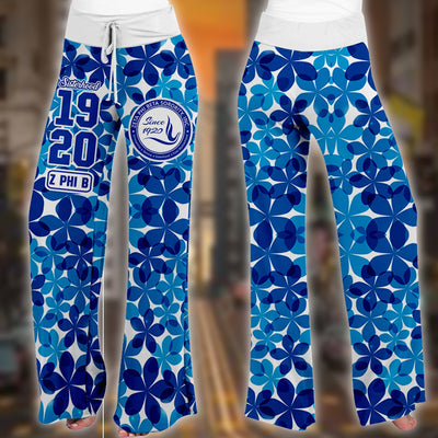 Zeta Phi Beta high waist lace up wide leg pants