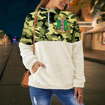 Alpha Kappa Alpha fleece stand collar sweatshirt 4