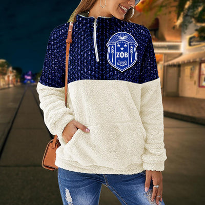 Zeta Phi Beta fleece stand collar sweatshirt 5