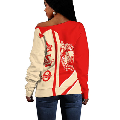 Africa Zone Sweater - Delta Sigma Theta Half Concept Women Off Shoulder Style J0