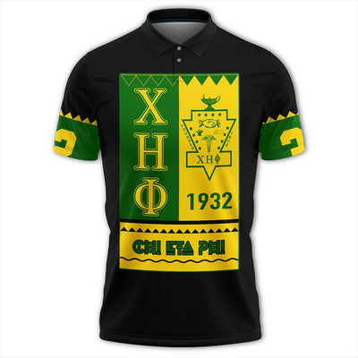 Africa Zone Polo - Chi Eta Phi Black Style Polo Shirt J09