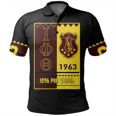 Africa Zone Polo - Iota Phi Theta Black Style Polo Shirt J09