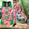 COMBO ALPHA KAPPA ALPHA HOLLOW TANkTOP AND LEGGING SET OUTFIT